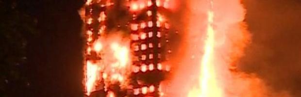 Brand in Grenfell toren